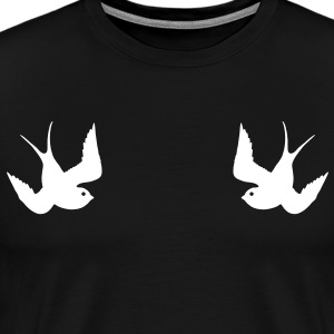 Tattoo Swallows Design Oldschool Birds Freedom Magliette - Maglietta Premium da uomo