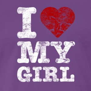 I Love my GIRL vintage light T-shirts - Mannen Premium T-shirt