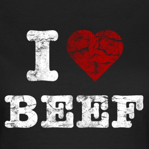 I Love BEEF vintage light Camisetas - Camiseta mujer