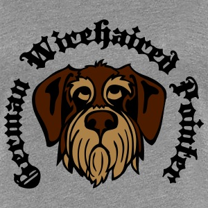 wirehaired_pointer_face_3c T-Shirts - Women's Premium T-Shirt