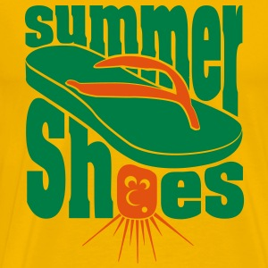 Summer Shoes Flip Flops T-shirts - Herre premium T-shirt