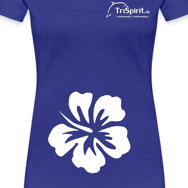 Cordula Kontrastshirt grosse Blume weisses Logo