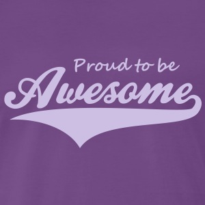 Proud to be Awesome T-Shirt FL - Herre premium T-shirt