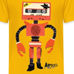 Orange Paper Tape Robo - Kids T - Teenager Premium T-shirt