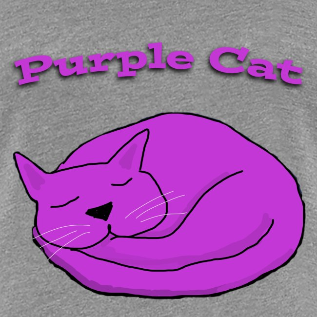 Purple Cat Sleeping Ladies T Shirt