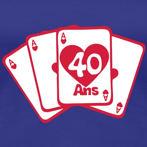 40 ans carte poker as anniversaire jeu