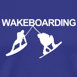 WAKEBOARD, WAKE, eau, câble, Raley, EAU,Invert - Men's Premium T-Shirt
