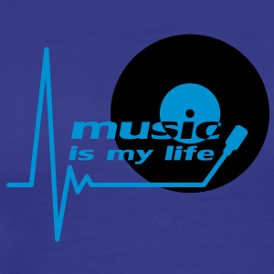 music_is_my_life T-skjorter - Premium T-skjorte for menn