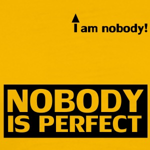 nobody_is_perfect Camisetas - Camiseta premium hombre