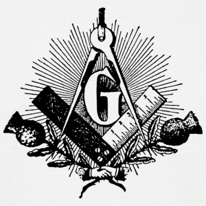 freemason symbol, masonic square & compass T-shirts - Mannen T-shirt