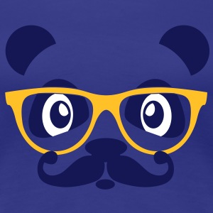 nerd panda with moustache and glasses T-Shirts - Women's Premium T-Shirt