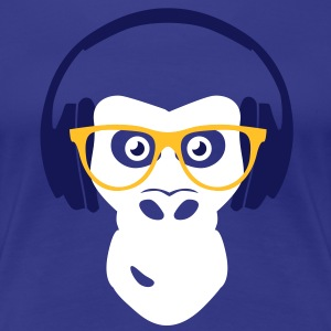 gorilla with headphones T-shirts - Vrouwen Premium T-shirt