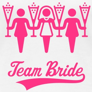 Team Bride, Women's Girlie Shirt - Women's Premium T-Shirt