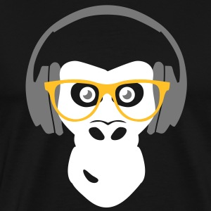 gorilla with headphones Tee shirts - T-shirt Premium Homme
