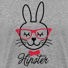 Like a hipsta hipster easter bunny rabbit face Tee shirts