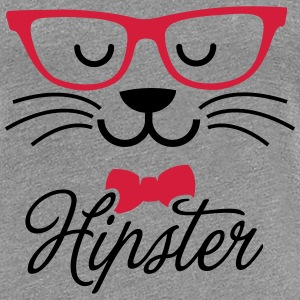 Swag hipsta hipster pussy cat animal style face T-Shirts - Women's Premium T-Shirt