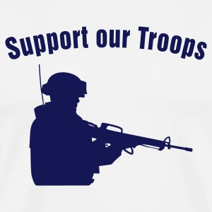 Support our Troops / soldier T-skjorter - Premium T-skjorte for menn