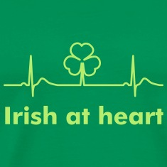 Irish Shamrock - St Patrick's Day Heart Beat T-Shi