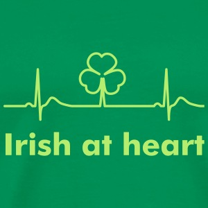 Irish Shamrock - St Patrick's Day Heart Beat T-Shi - Men's Premium T-Shirt