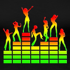 Dancing girls - Equalizer - EQ -  Music - Reggae T - Women's Premium T-Shirt