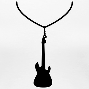 Necklace with guitar T-Shirts - Women's Premium T-Shirt