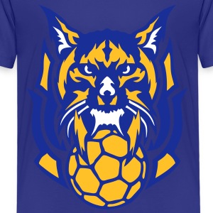 handball lynx logo sauvage animal club Tee shirts - T-shirt Premium Enfant