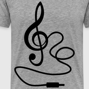 Instant Music * Treble Clef cable RCA plugs T-Shirts - Men's Premium T-Shirt