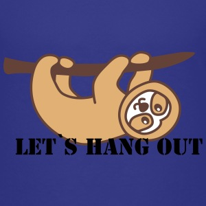 sloth hanging around T-Shirts - Kinder Premium T-Shirt