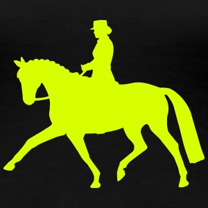 Dressage Riding Lady T-Shirts - Frauen Premium T-Shirt