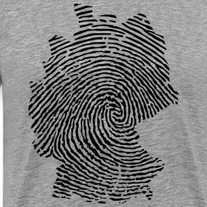 Germany fingerprint  T-Shirts - Men's Premium T-Shirt