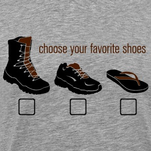 Choose your Favorite Shoes T-skjorter - Premium T-skjorte for menn