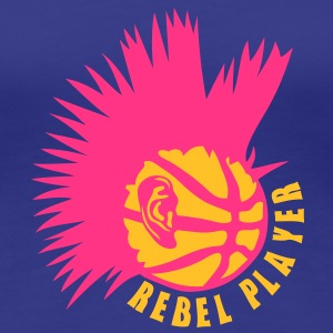 basketball punk oreille logo rebel  Tee shirts - T-shirt Premium Femme