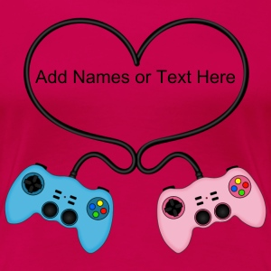 Customisable Game Controllers Heart T-Shirt - Women's Premium T-Shirt