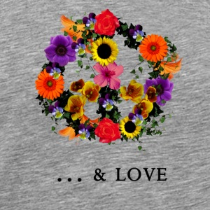 peace & love T-shirts - Herre premium T-shirt
