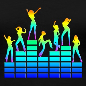 Dancing girls - equalizer - EQ -  music - sound T-skjorter - Premium T-skjorte for kvinner