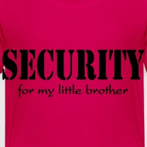 Security for my little Brother T-shirts - Børne premium T-shirt