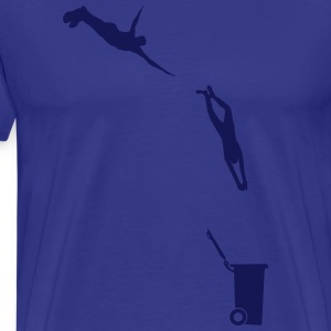 Evolutionary leap in the bin  T-Shirts - Men's Premium T-Shirt