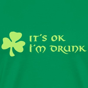 it´s ok, i´m drunk T-skjorter - Premium T-skjorte for menn
