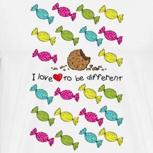 I love to be different- cookie T-shirts - Mannen Premium T-shirt