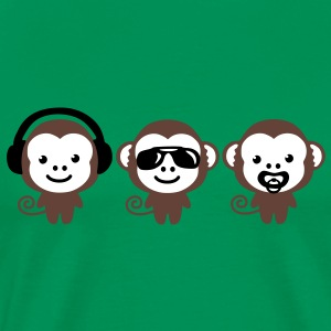 three_monkeys T-shirts - Premium-T-shirt herr