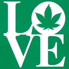 Cannabis Love Art Tee shirts