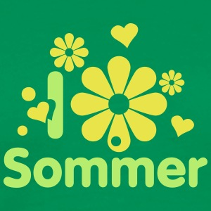 i love sommer endlich sommer sun is shining party T-Shirts - Männer Premium T-Shirt