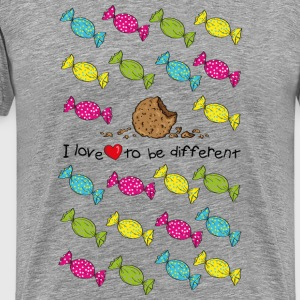 I love to be different- cookie Tee shirts - T-shirt Premium Homme