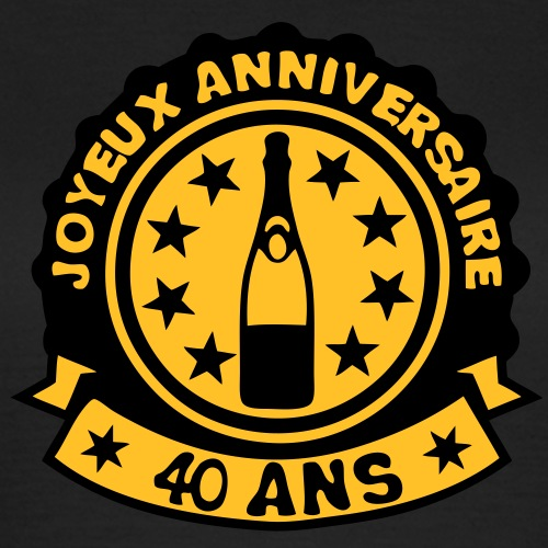 40 ans anniversaire bouteille champagne