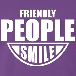 Friendly People SMILE Fun T-Shirt WP - Herre premium T-shirt