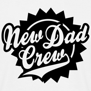 New Dad Crew Shield Design T-Shirt BK - Männer T-Shirt