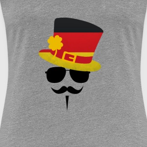 Germany Go Moustache T-skjorter - Premium T-skjorte for kvinner