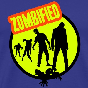 zombified for bright backgrounds T-Shirts - Men's Premium T-Shirt