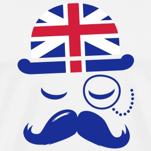 Like a vintage english hipster moustache boss T-Shirts - Men's Premium T-Shirt