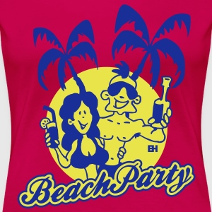 Beach Party Tee shirts - T-shirt Premium Femme